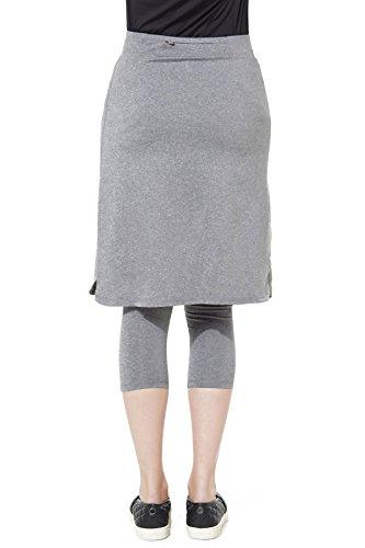 Modesty Athleisure Snoga Skirt 3/4 Leggings Grey, Large