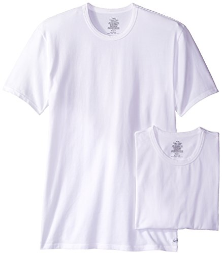 Calvin Klein Men's 2 Pack Cotton Stretch Crew Neck T-Shirt, White, X-Large