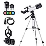 Astronomy Telescope for Kids Beginners Teenagers, with 43 inch Tripod Phone Adapter Case