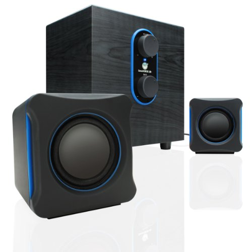 GOgroove LBr 2.1 USB Computer Speakers with Bass Subwoofer & Dual Stereo Satellite Speakers - Works with Apple