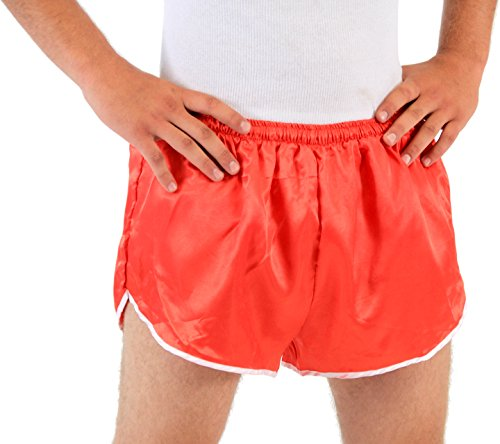 Men's Red Athletic Running Shorts (Large/X-Large)
