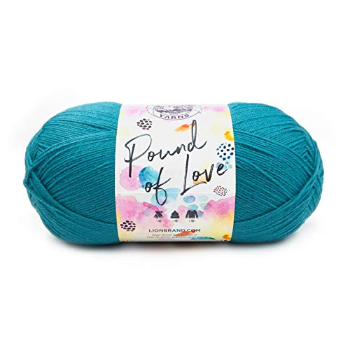 Lion Brand Yarn 550-108 Pound of Love Yarn, One Size, Aquamarine