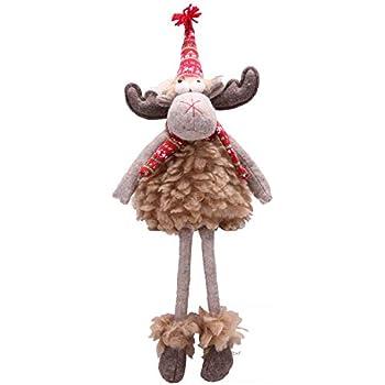 LARLIFE 24 inch Handmade Christmas Gnome Xmas Deer Decoration Swedish Santa Figurines (Deer)