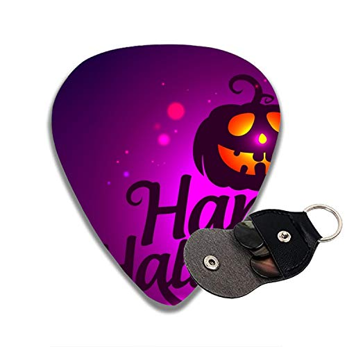 Celluloid Guitar Picks For Bass Guitar,Print Purple Halloween-6pcs ()