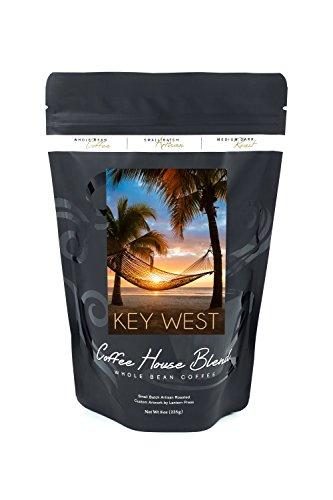 Key West, Florida - Hammock and Sunset (8oz Whole Bean Small Batch Artisan Coffee - Bold & Strong Medium Dark Roast w/ - Shore West Sun