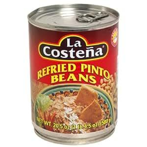 La Costena Bean Refried Pinto Beans (12x20.5 Oz)