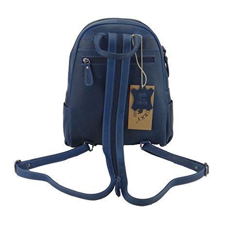 Hill Burry Rucksack, Lederrucksack,Vintage, Backpack, Tasche blau