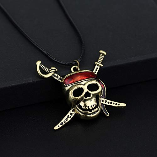 Algol - Pirates Of the Caribbean Necklace Captain Mask Skull And Crossbones Necklace For Fans