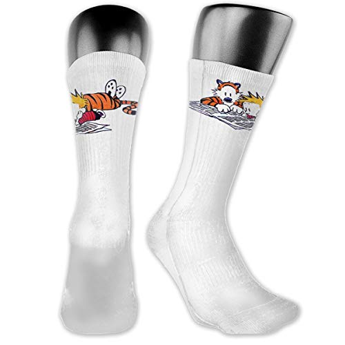 Tigers Football Runner (Comic Thomas Calvin And Hobbes Tiger Unisex Cushion Crew Socks Tube Socks Compress Socks New Middle High Socks)