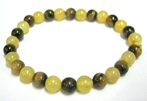CRYSTAL MIRACLE BEAUTIFUL YELLOW AVENTURINE QUARTZ TIGERS EYE BEADED STRETCH BRACELET HEALING CRYSTAL MEN WOMEN GIFT FASHION WICCA JEWELRY ENERGY PROSPERITY GEMSTONE PEACE