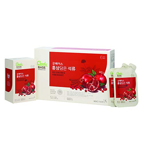 KGC Cheong Kwan Jang [Good Base Red Ginseng] Health Drink for Blood Circulation and Balance Pressure Levels (30 Drink Pouches) - Pomegranates