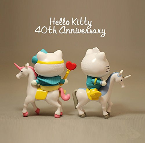 7.5cm Height 2pcs Special Hello Kitty Figures Riding Horses Doll Figures