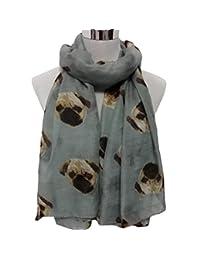 Womens Scarf, ABC® Lady Womens Long Soft Cute Pug Dog Print Scarf Shawl Wraps