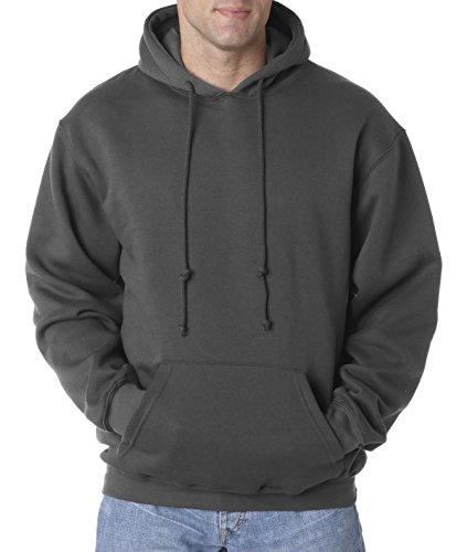 Bayside Women's Front Pouch Pocket Hooded Sweatshirt, Charcoal, XX-Large ()