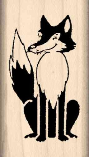 Fox Rubber Stamp - 1 inch x 1-3/4 inches