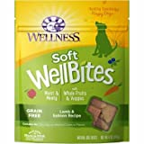 Wellness WellBites Soft Natural Dog Treats, Lamb & Salmon, 8-Ounce Bag