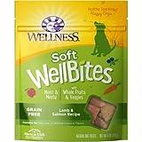 Wellness WellBites Soft Natural Dog Treats, Lamb & Salmon, 8-Ounce Bag