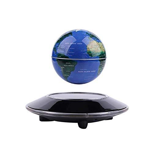 LYNICESHOP 6'' Magnetic Levitation Floating Globe Anti Gravity Rotating World Map with LED Light for Children Educational Gift Home Office Desk ()
