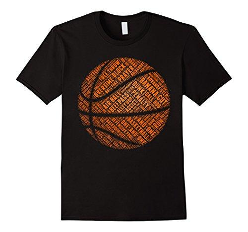 Mens BASKETBALL BALL T SHIRT Large Black