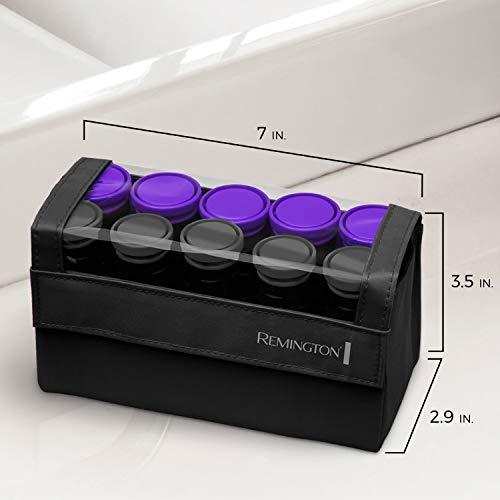 Remington H1016 Compact Ceramic Worldwide Voltage Setter para el cabello, rodillos para el cabello, 1-1 ¼ pulgada, púrpura /negro