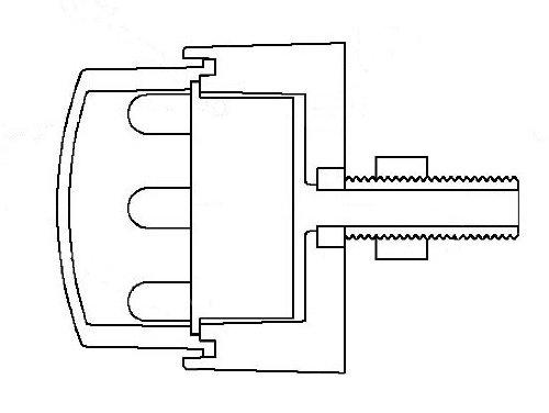 R/ücklicht LED BULLET M8 Bolzen E-gepr. rund m