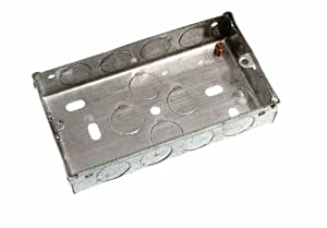 FLUSH MOUNT METAL PATTRESS ELECTRIC BACK BOX DOUBLE 2 GANG 25MM ( pack of 20 )