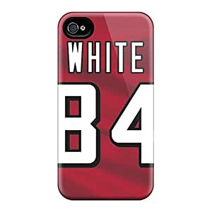 Iphone 4/4s Xod95gPFg Support Personal Customs Attractive Atlanta Falcons Pattern Shockproof Hard Phone Cover -DannyLCHEUNG
