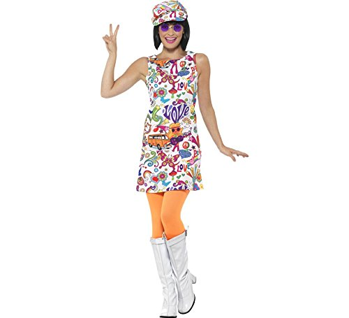 Smiffys Women's 60s Groovy Chick Costume, Multi, Medium