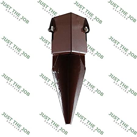 Fence Post Spikes & Shoes, Bolt Down Holders, Easy Grip ~ 50/75/100mm Garden Timber Support Stakes (4, 3'/75mm Bolt Down)