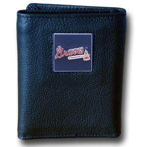 MLB Atlanta Braves Genuine Leather Tri-fold (Atlanta Braves Credit Card)