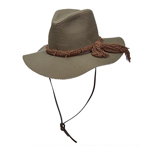 Scala Canvas Hat - SCALA Jane's Safari - Womans Wide Brim Floppy Hat (Olive)