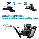 Aipsun LED Garage Light 2 Pack 80W Black Deformable Garage Ceiling Light 8000LM E26/E27 LED Light Bulbs for Workshop… 12