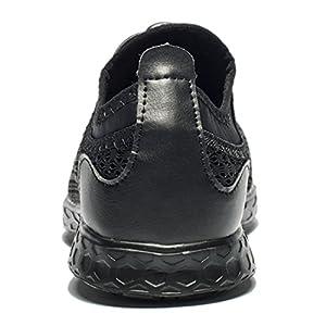 Tianyuqi Men's Mesh Slip On Water Shoes, 42 M EU / 8.5 D(M) US, Allblack