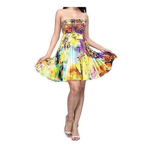 In Für Cocktail Damen Gr Ital Design 36 Gelb Festamo Kleid 1Rxf0qwF