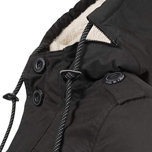 para Invierno XL Ewok XS Ragwear Capucha Schwarz018 Colores Mujer 7 Chaqueta con de HxpOIq