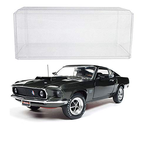 Johnson Smith Co. (Set) 1969 Ford Mustang Boss 429 Die Cast - 1:18 Scale - with Display Case