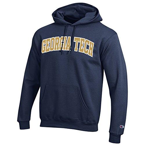 brand new 27da1 a204b Champion NCAA Georgia Tech Hornets Men s Eco Power Blend Hooded Sweat  Shirt, Small, Navy