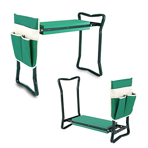 Fancy Buying Garden Kneeler and Seat - Foldable Stool for Ease of Storage - EVA Foam Pad - Sturdy and Lightweight - Bench Comes with A Free Tool Pouch! by Fancy Buying