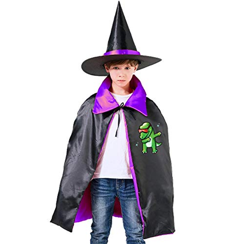 Dabbing T-Rex Halloween Costumes Witch Wizard Cloak With Hat For Christmas Halloween Cosplay Boys Girls -