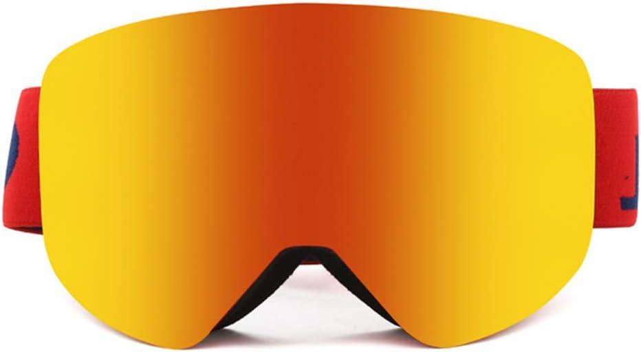 HHORD Gafas De Esquí, Ciclismo Motocicleta Anteojos para Niños, Niños Y Niñas, Jóvenes, Hombres Y Mujeres, con Protección UV 400, Resistencia Al Viento, Las Lentes Antirreflejo,B