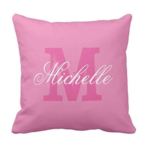 ADFhudejfuvyour Throw Pillow Cover Cute Monogrammed Personalized Name Monogram Dorm Decorative Pillow Case Home Decor Square Pillowcase