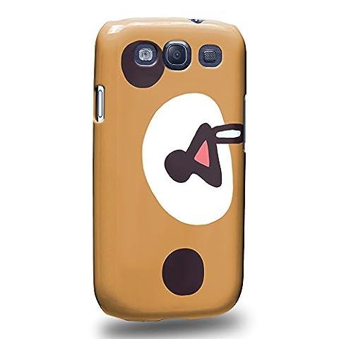 Case88 Premium Designs Rilakkuma Korilakuma Kiiroitori Kaoru Collection 1349 Protective Snap-on Hard Back Case Cover for Samsung Galaxy (Rilakkuma Phone Case Galaxy S3)