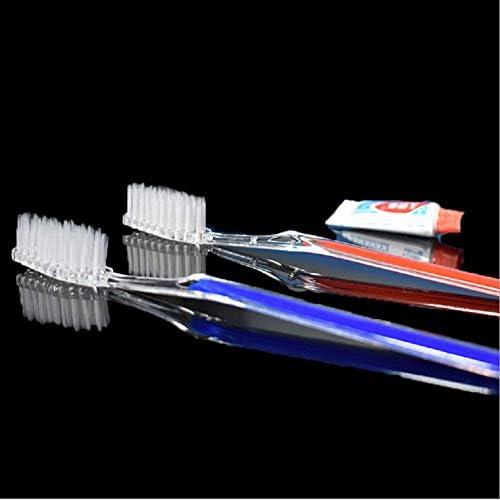 Einweg-Zahnbürsten mit Zahnpasta, 5 Farben