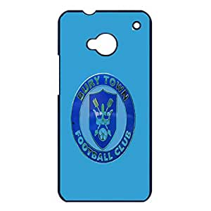 Cover Shell Perfect Blue Printed Bury Football Club Phone Case Cover for Htc One M7 FC Bury Stylish