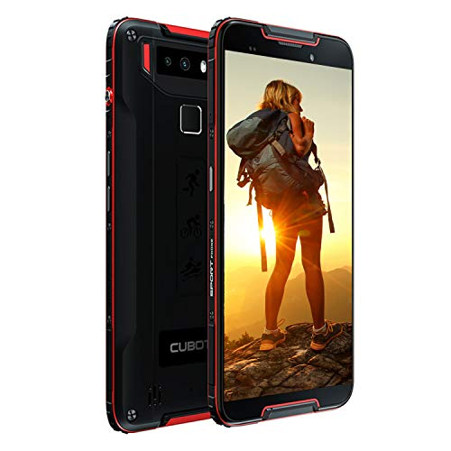 CUBOT Quest 5.5-inch Android 9.0 Pie Rugged Smartphone Unlocked, 4GB+64GB,4G Dual SIM, NFC,Gyroscope, 4000mAh Battery, 12MP Camera, IP68 Waterproof Shockproof, Dustproof (Red)