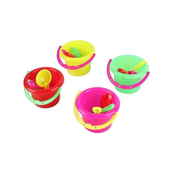 CamKpell 4pcs novità Mini Beach Toys Set Secchiello di Sabbia Secchio con Pala Rake Summer Pool Spiaggia di Sabbia Gioca… 1 spesavip