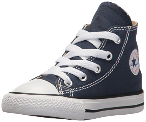 Converse Clothing & Apparel Chuck Taylor All Star High Top Kids Sneaker, Navy, 8 ()