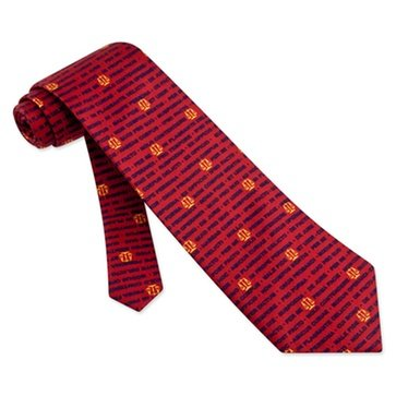 Alynn Red Silk Novelty Ties (Men's Legal Latin Terms & Legal Scales of Justice Lawyer 100% Silk Necktie Tie Neckwear)