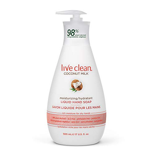 Live Clean Coconut Milk Moisturizing Liquid Hand Soap, 500 mL
