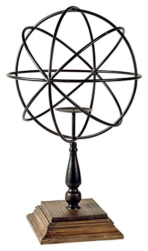 Signature Design by Ashley A2000253 Devlin Candle Holder, Bronze (Floral Wood Candle Holder)